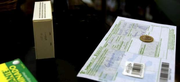 un pago en euro por receta en una farmacia en Cataluña