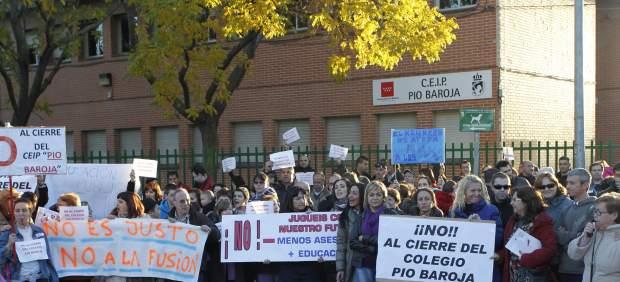 Protesta por el cierre de las escuelas