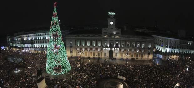 Las uvas en la Puerta del Sol