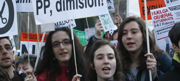 El retorno de las protestas contra los recortes en la educación