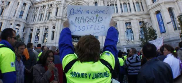 Protesta contra la ciudad de Madrid