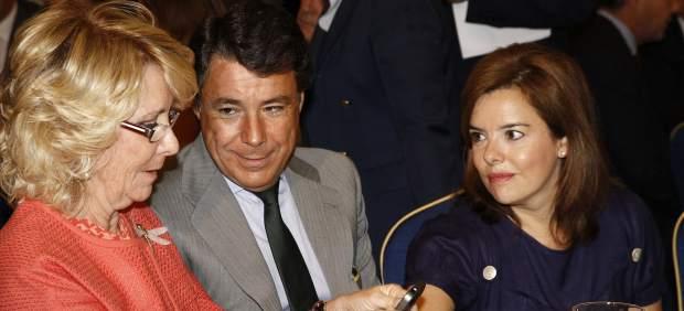 Aguirre, junto con Ignacio González y Soraya Sáenz de Santamaría