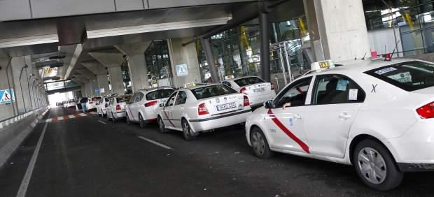Los taxis en Barajas