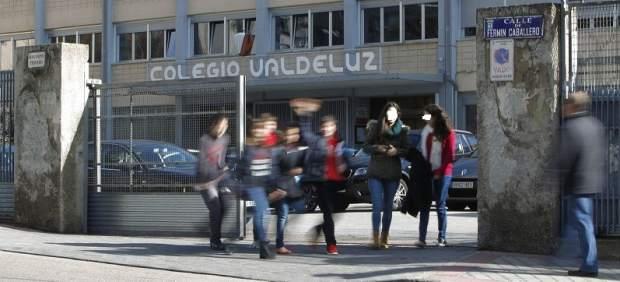 escuela exterior Valdeluz, este jueves por la tarde.