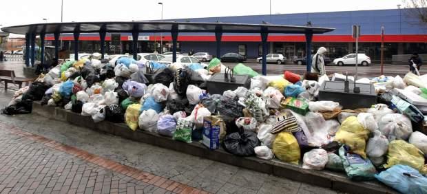 Rubbish contra estación de cercanías Alcorcón, a los quince días de la huelga