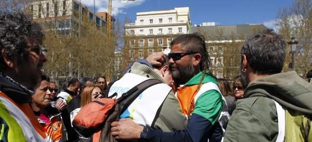 Trabajadores de Telemadrid, tras conocer la noticia sobre el ERE