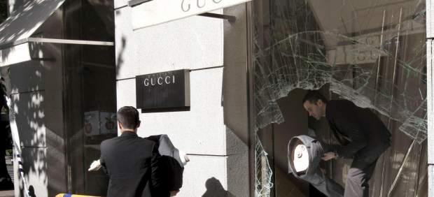 Alunizaje en una tienda de lujo, en el centro de Madrid.