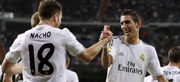 Di María celebra un gol